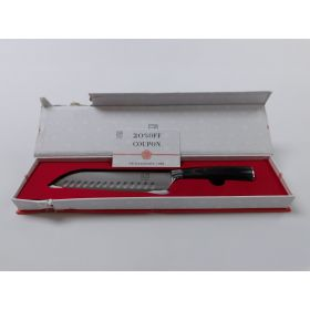 ISSIKI Cutlery 7-Inch Santoku Knife Directed by Japanese Stainless Steel Blade.