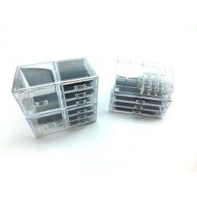 Acrylic Jewelry Cosmetic Storage Makeup Organizer Set, 4 Piece