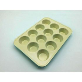 GreenLife 12 Cup Ceramic Non-Stick Muffin Pan, Turquoise