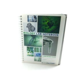 BookFactory Carbonless Biology Lab Notebook, Sets of Pages 8.5 x11 (Biology)