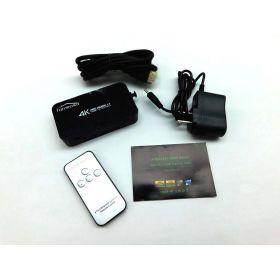 Famirosa HDMI Switch with Remote, 4 in 1 Mini Hdmi 2.0 Selector Kvm Switch Box