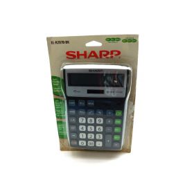 Sharp EL-R297BBK Recycled Series Calculator w/Kick-stand, Black (SHRELR297BBK)