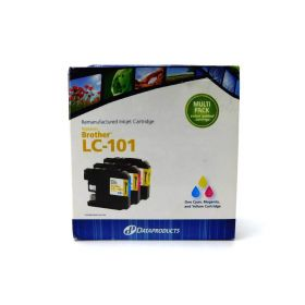 Dataproducts DPCLC101CMY Cyan Magenta Yellow Multi-Pack Inkjet Cartridges for Brother LC101 Ink