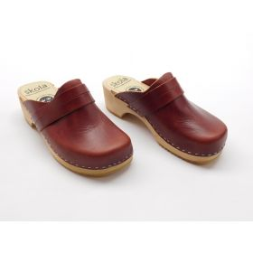 Skola comfort organic mahogany leather women's shoes US 36