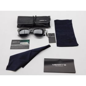 MERRY'S Retro Rivet Polarized Sunglasses for Men 80's Classic Women Sun glasses
