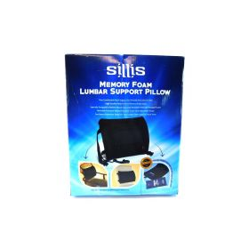 Sillis Lower Back Pain Pillow with Reusable Microwave Heat Pack