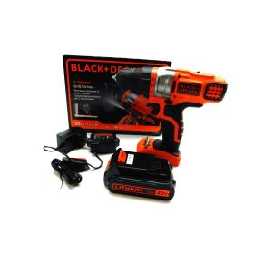 BLACK+DECKER 2 Speed 3/8-Inch 20-Volt Lithium Cordless Drill, orange/Black
