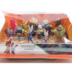 Disney Zootopia Exclusive Deluxe 10 Figure Character Play Set