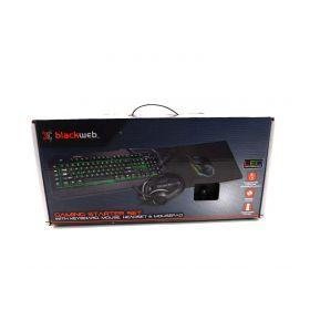 Blackweb Gaming Starter Kit with Keyboard, Mouse, Mousepad and Headset