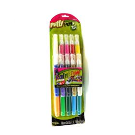 Puffy Pen 15 Pack of Multi-surface Pint for Fabric & More