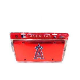 MLB Los Angeles Angels Laser-Cut Auto Tag Red