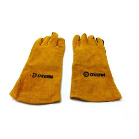 Oxean Professional Leather Welding Safety Gloves – 14″ Fire and Heat Resistant