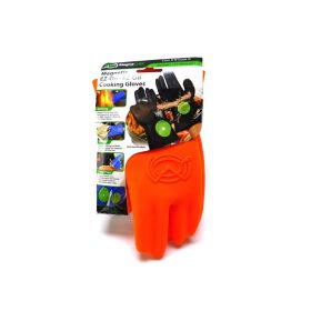 Heat Resistant Silicone BBQ Gloves Ergonomic web fit allows for firm grip