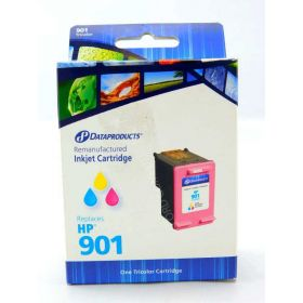 Dataproducts DPCC656AN Remanufactured Tri-Color Inkjet Cartridge for HP 901 Ink