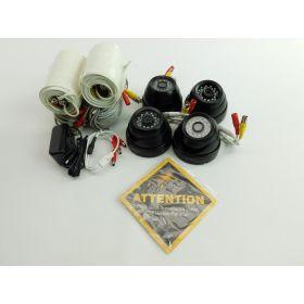 Q-See 1080P Analog HD Surveillance Camera 4 Pack Night Vision Indoor Outdoor