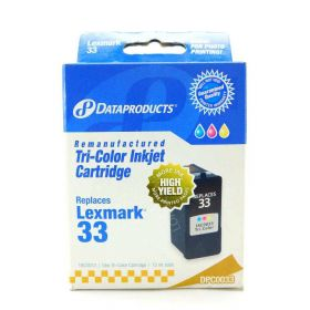 Dataproducts DPC0033 Remanufactured Inkjet Cartridge for Lexmark #33, Color