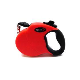 senye Retractable Dog Leash, Tangle Free, One Button Break & Lock, Dog Walking Leash (Red)