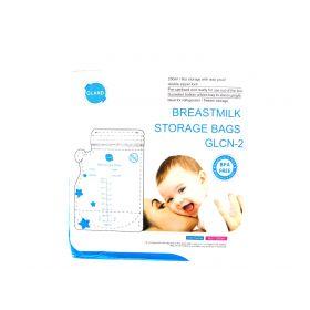 GLAND Breastmilk Storage Bags Easy Pour Spout 100 Count, Pre-Sterilized BPA Free