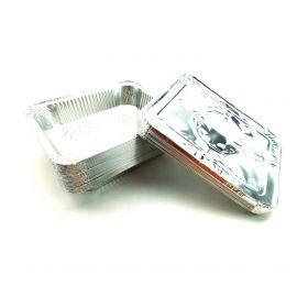 Foil Pans with Lids 9x13 Aluminum Pans with Covers 25 Foil Pans and 25 Foil Lids
