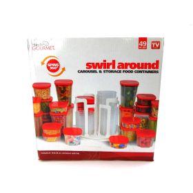 Handy Gourmet JB6503 Swirl-a-Round Organizer, Red
