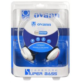 Ovann OM31MW Professional Behind the Head Hi Fi stereo Headphones (White)