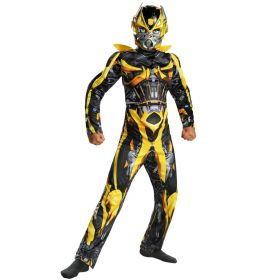 Bumblebee Transformers Movie Fancy Dress Superhero Muscle Boys M 7 - 8