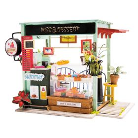 """Miniature Room Box Puzzle """"Ice Cream Station"""" detailed instructions in English !"""