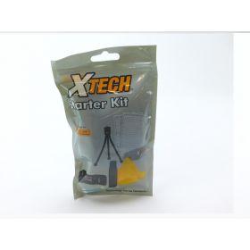 XTech 7 Piece Digital Camera Starter Accessory Set Tripod Protectors Cloth Fluid
