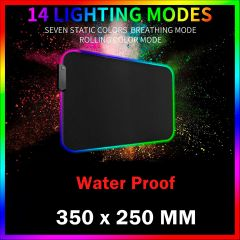 RGB Gaming Mouse Pad Led Mouse Mat 14 Lighting Modes Waterproof  14x10in/35x25cm