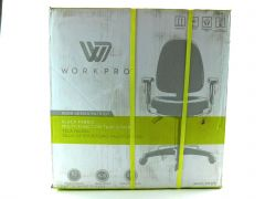 WorkPro Patriot Multifunction Fabric Task Chair, Black