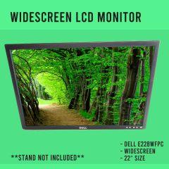 """Dell E228WFPC 1680 x 1050 Resolution 22"""" WideScreen VGA/DVI LCD Panel Monitor"""