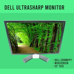 "Dell UltraSharp 22"" 2208WFPt TFT LCD Monitor w/ VGA and Power Cable USB upstream"