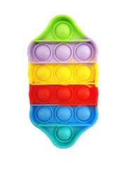 Bubble Popper Toy Stress Reliever Extrusion Game Kids Adults multicolor hexagon