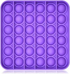 Soft and Durable Pop Toy Great Sensory Autism to Relieve Anxiety Purple Square