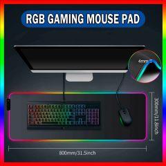 """LARGE RGB LED Extra Large Soft Gaming Mouse Pad Oversized Glowing 31.5x11.8"""""""