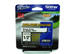 """Brother Genuine P-touch TZE-231 Tape, 1/2"""" (0.47"""") Wide 6pk"""