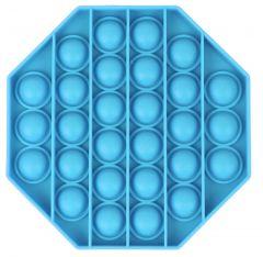 Push Pop Bubble Fidget Toy toy as a coaster or a pet Frisbee Blue Octagon
