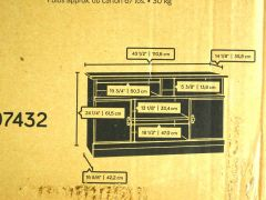 Sauder 407432 Harvest Mill Panel Tv Stand Abbey Oak Finish