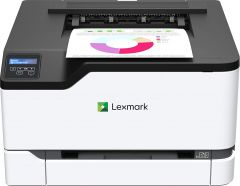 Lexmark C3326dw Color Laser Printer with Wireless Capabilities, White/Gray