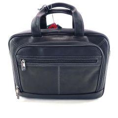"Samsonite Leather Portfolio, 12.5"" x 16.13"" x 4.25"", Laptop Briefcase Black"