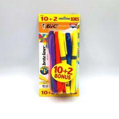 BIC Brite Liner - Fluorescent Highlighters Chisel Tip10ct - Multicolor Ink