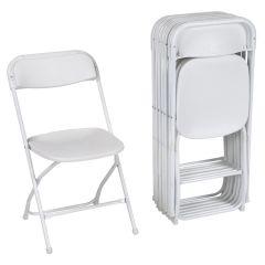 ZOWN 60540WHT8E Premium White Commercial Banquet Folding Chair - 8/Pack