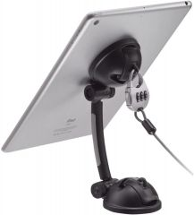 CTA Digital Suction Mount Stand with Theft Deterrent Lock for Tablets and Phones