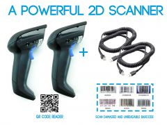 (2 Pack) DataLogic Gryphon 1D 2D Barcode Reader and Scanner GD4400 with USB Cord