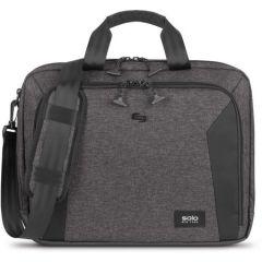 Solo New York Voyage Briefcase Nomad Collection (Grey/Black) Briefcase Bags