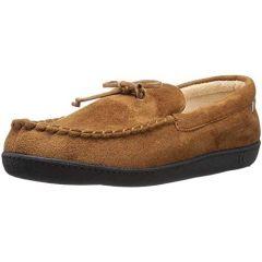 Isotoner Men's Microsuede Buckskin Moccasin Slippers Sz Medium 8-9
