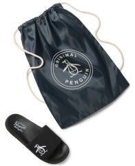 Penguin Men's Slides & Cinch Bag Set