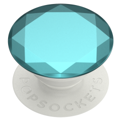 PopSockets Phone and Tablet Swappable PopGrip - Metallic Diamond Aquarius Blue