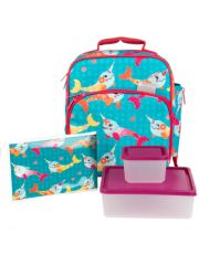 Bentology 6-Piece Lunch Kit, Narwhal