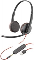 Plantronics Blackwire On-Ear Mono Headset, USB-A Headset, Wired (3225)